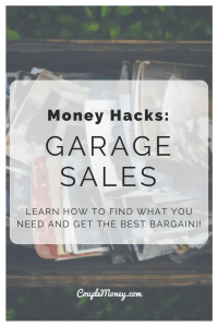 Looking to get the best deals at garage sales? These 5 tips will help you become a bargain hunter!