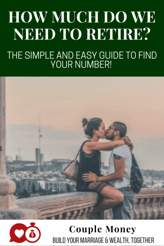 Learn the easy way to find out how much you need retire as a couple! #retirement #money #family #marriage