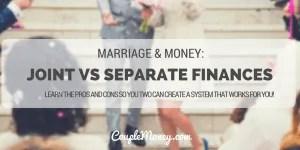 joint vs separate finances couple money