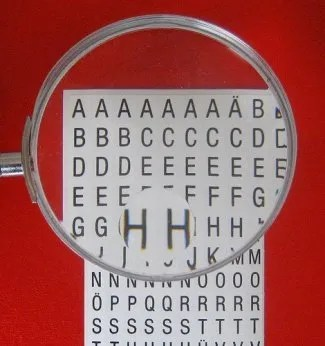 looking closely magnifying glass