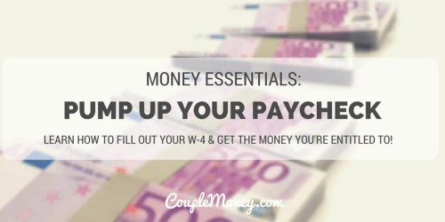 w-4 more money in paycheck couple money