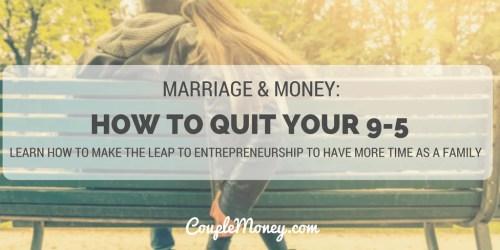 wife quit her job couple money