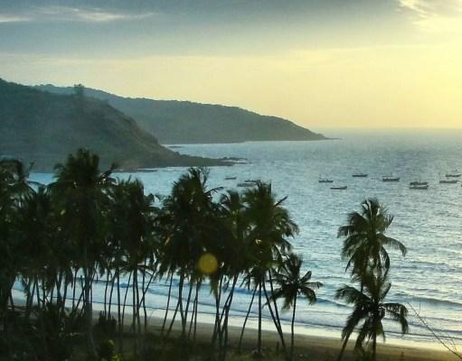Twilight at Karde beach in Konkan