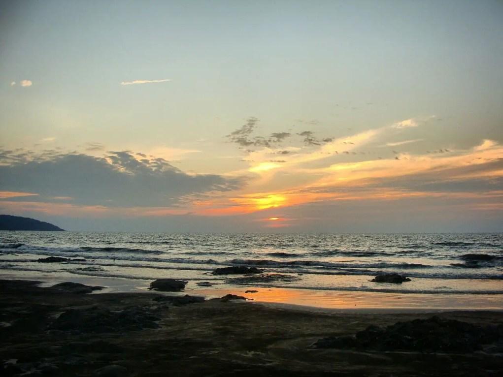 Sunset at Ladghar beach in Konkan