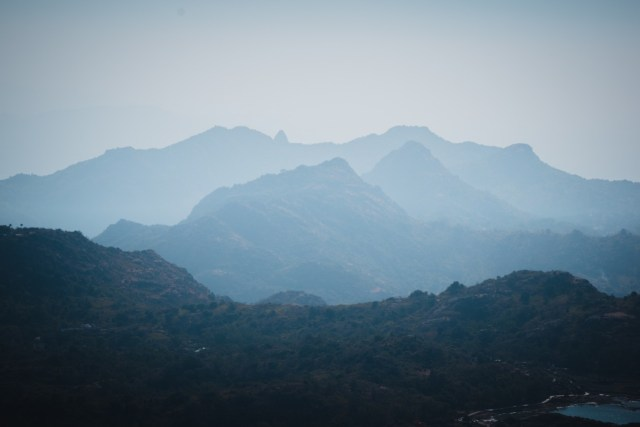 The beautiful mountain ranges in Mount Abu