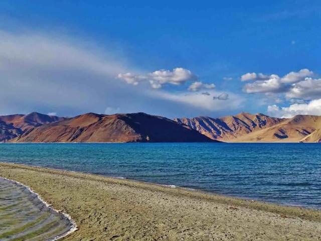 The picturesque Pangong Lake, Ladakh