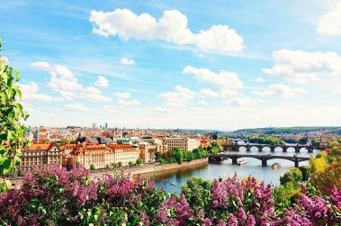 Prague in May with Spring River View | Gay Couple City Weekend Prague © CoupleofMen.com