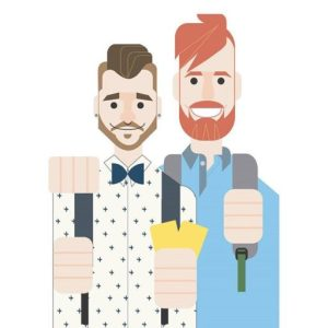 Logo Gay Couple Travel blog © CoupleofMen.com