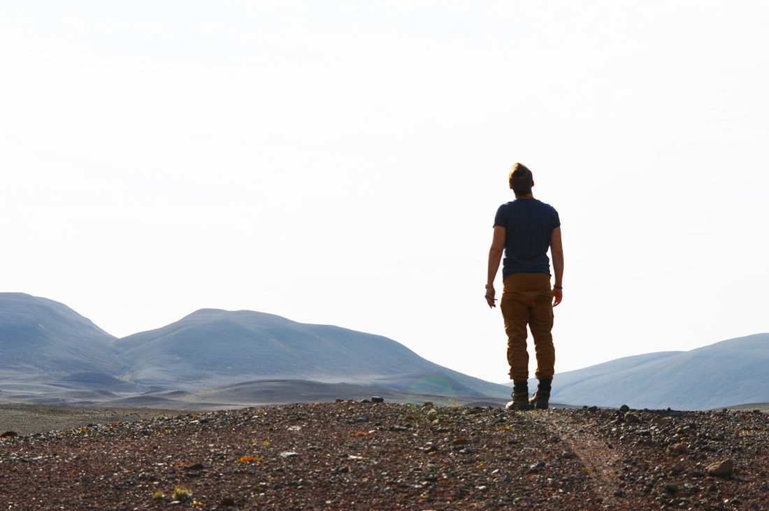 Karl enjoying total silence in the east part of Iceland | Gay Couple Road Trip East Iceland © Coupleofmen.com