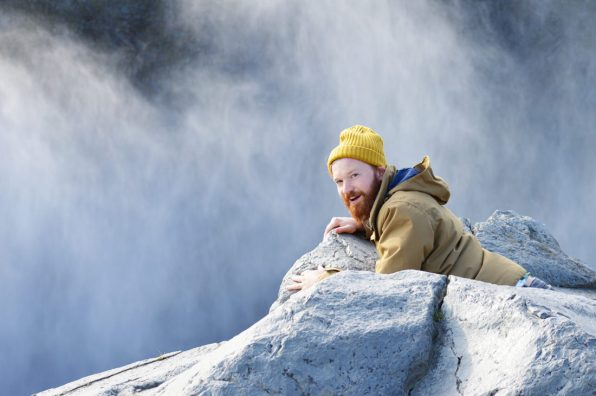 Daan gazing above Dettifoss Waterfall | Gay Couple Road Trip East Iceland © Coupleofmen.com