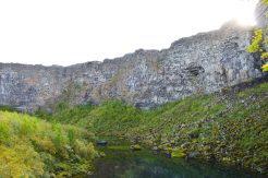 Hidden lake in Ásbyrgi   Gay Couple Road Trip East Iceland © Coupleofmen.com