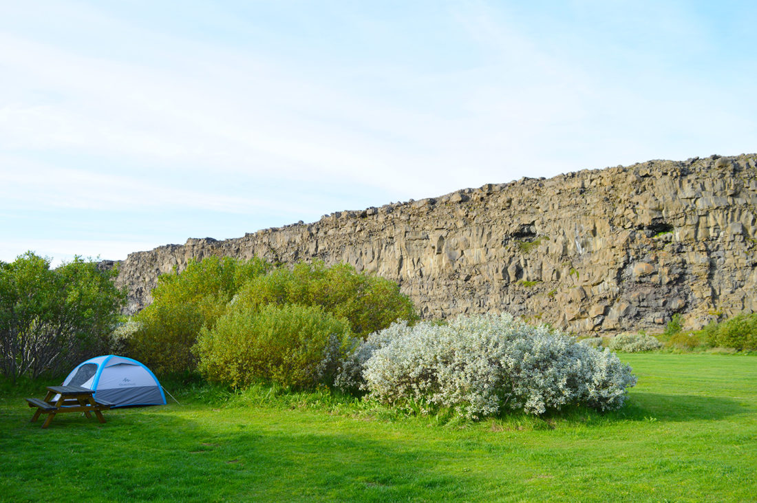 Campsite in Ásbyrgi | Gay Couple Road Trip East Iceland © Coupleofmen.com