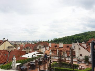 Gay Travel Prague Roof Top View from Restaurant Valoria | Gay Couple City Weekend Prague © CoupleofMen.com