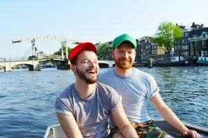 Gay Couple City Weekend Amsterdam