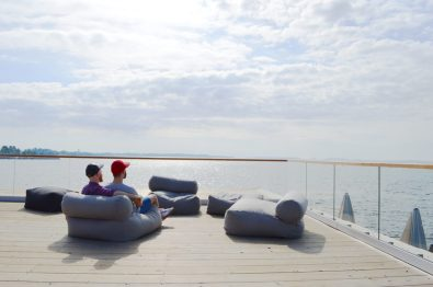 View from the Rooftop of the Sauna Löyly | Gay Couple Finnish Design Sauna LÖYLY Helsinki © CoupleofMen.com
