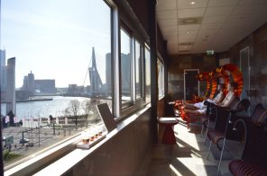 Rooftop Sauna with a view over harbor area | Mainport Hotel Rotterdam Gay-Friendly © CoupleofMen.com