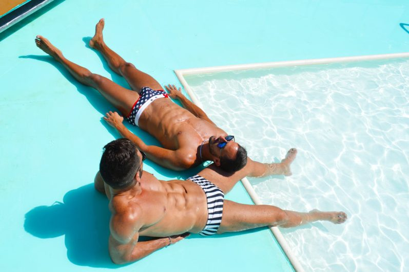 Tips European Gay Cruise Pool Life during our Cruise | Gay Men Tips La Demence The Cruise © CoupleofMen.com