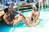 Tips European Gay Cruise Pool Life during our Cruise | Gay Men Tips La Demence The Cruise © CoupleofMen.com