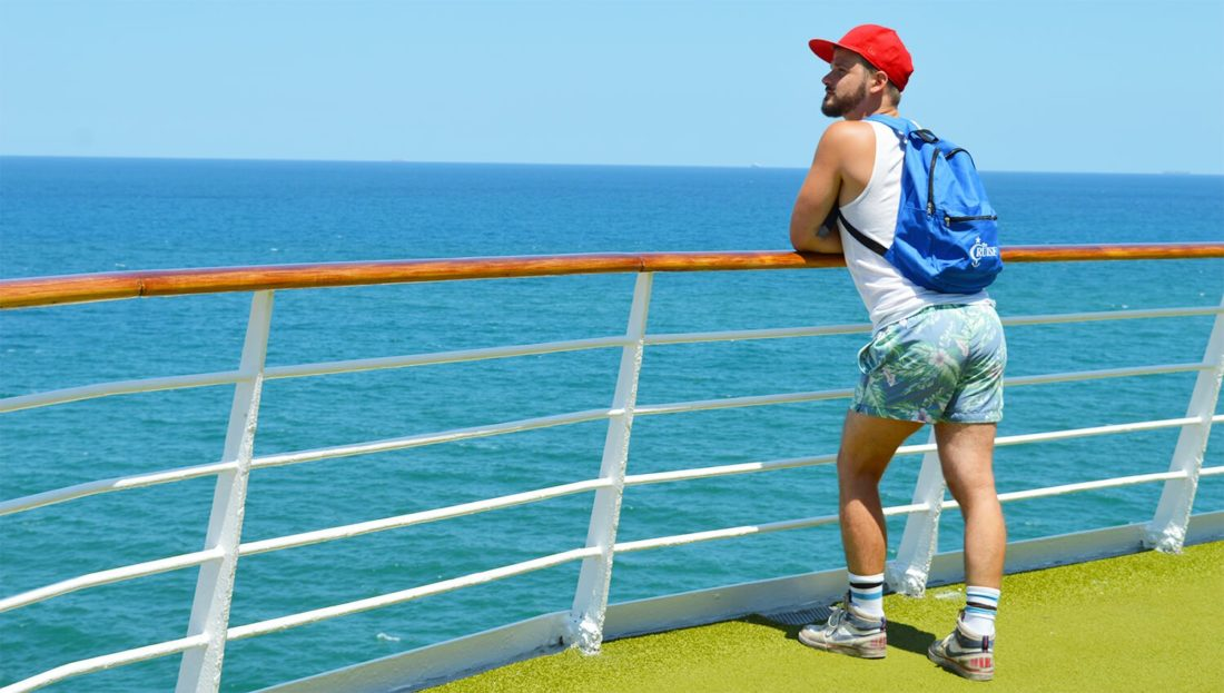 Karl on Deck the SOVEREIGN | Gay Couple Diary La Demence Cruise © CoupleofMen.com