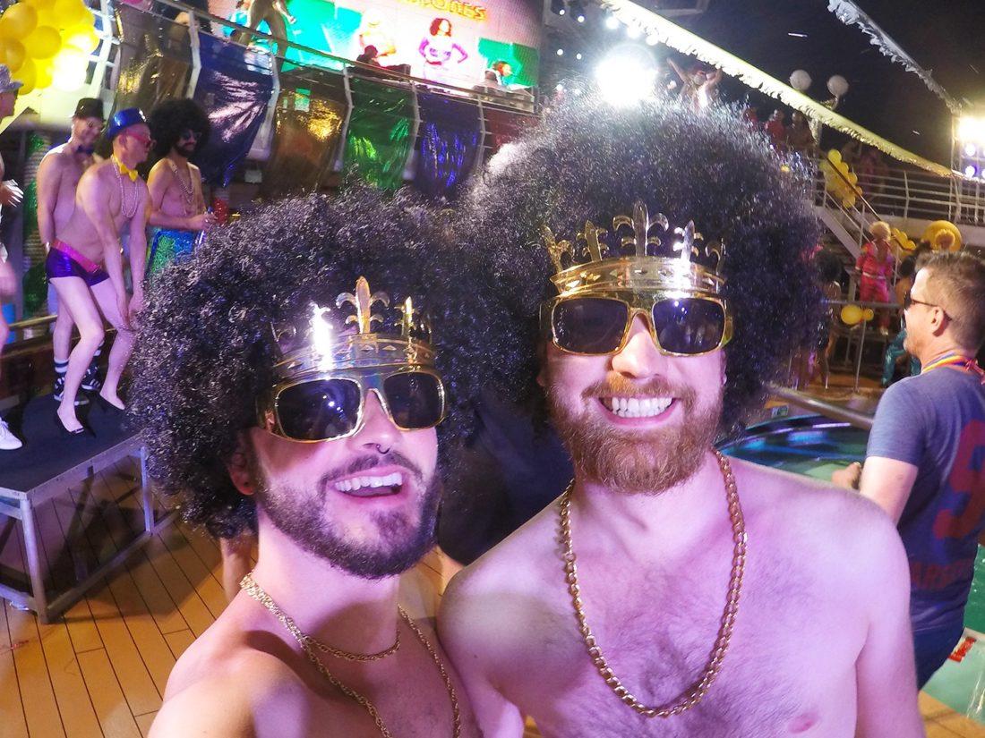 Disco Party | Gay Couple Diary La Demence Cruise © CoupleofMen.com
