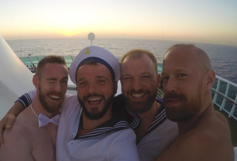 White Party with Sunset | Gay Couple Diary La Demence Cruise © CoupleofMen.com