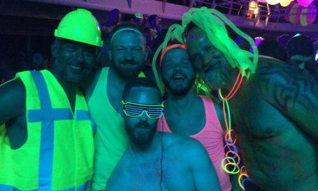 Tips European Gay Cruise Neon Party | Gay Men Tips La Demence The Cruise © CoupleofMen.com
