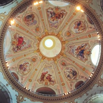View of the dome of the world-famous Dresden Frauenkirche © Coupleofmen.com