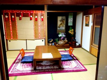 Our two rooms at Minshuku Tsugizakura in Chikatsuyu | Gay Couple Pilgrimage Kumano Kodo Japan © CoupleofMen.com