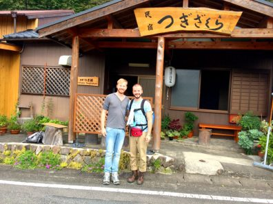 Photos with the family part 2 of Minshuku Tsugizakura in Chikatsuyu | Gay Couple Pilgrimage Kumano Kodo Japan © CoupleofMen.com