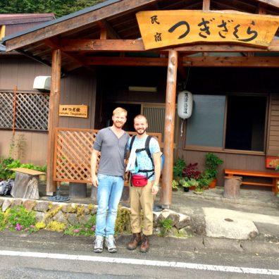 Photos with the family part 2 of Minshuku Tsugizakura in Chikatsuyu | Gay Couple Pilgrimage Kumano Kodo Japan © CoupleofMen.com