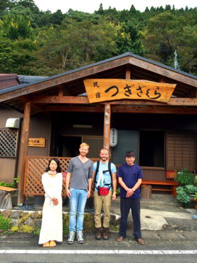 Photos with the family part 3 of Minshuku Tsugizakura in Chikatsuyu | Gay Couple Pilgrimage Kumano Kodo Japan © CoupleofMen.com