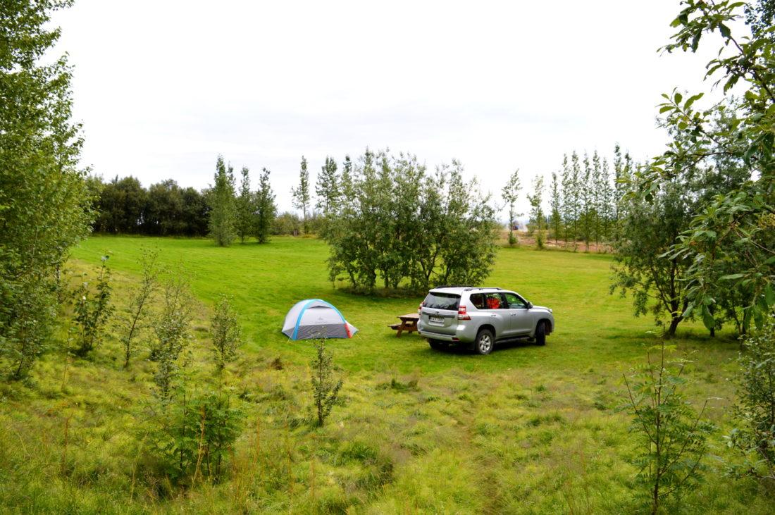Camping next to the Geysir   Golden Circle Tour Iceland Þingvellir Geysir Gullfoss © CoupleofMen.com