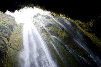 Hidden waterfall in a cave Gljúfrafoss | Golden Circle Tour Iceland Þingvellir Geysir Gullfoss © CoupleofMen.com