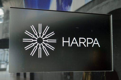Reykjavik Gay Travel Harpa Logo | Gay Couple Travel City Weekend Reykjavik Iceland © Coupleofmen.com
