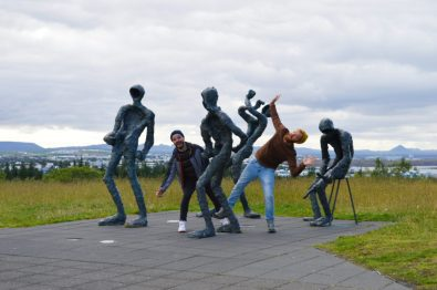 Sculpture Fun in Reykjavik | Gay Couple Travel City Weekend Reykjavik Iceland © Coupleofmen.com