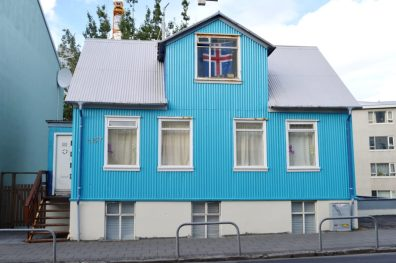 Reykjavik Gay Travel Light blue house | Gay Couple Travel City Weekend Reykjavik Iceland © Coupleofmen.com