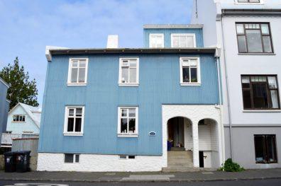 Metallic blue house | Gay Couple Travel City Weekend Reykjavik Iceland © Coupleofmen.com