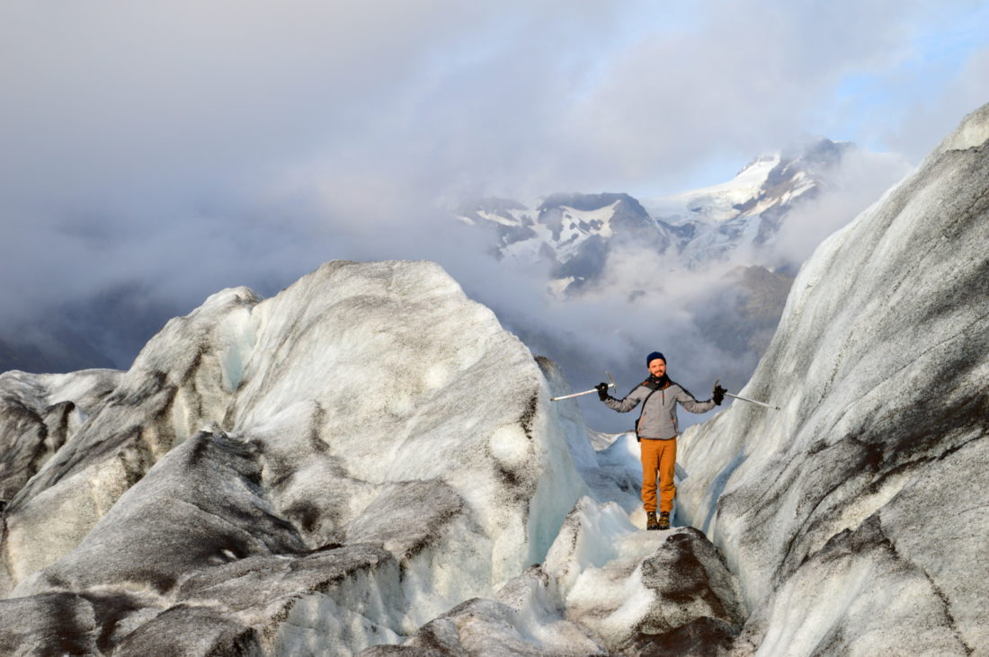 Hiking an Icelandic Glacies at No-Man's-Land Skaftafell Glacier Ice © CoupleofMen.com