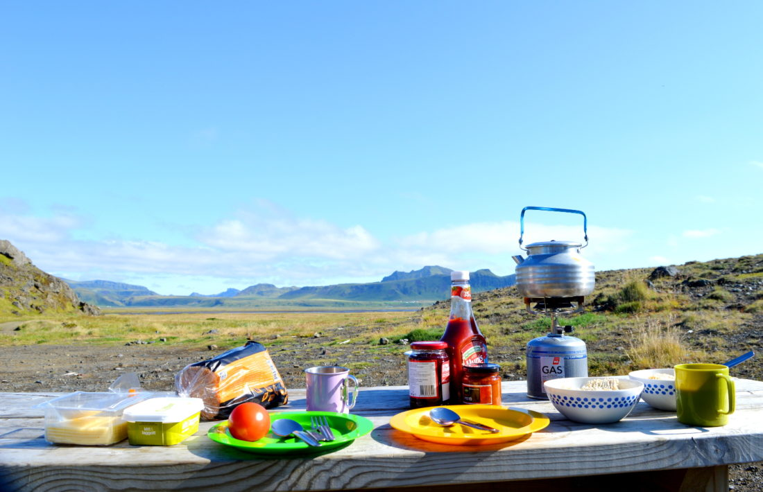 Breakfast in South Iceland | Gay Couple exploring South Iceland Vík Black Beach © CoupleofMen.com
