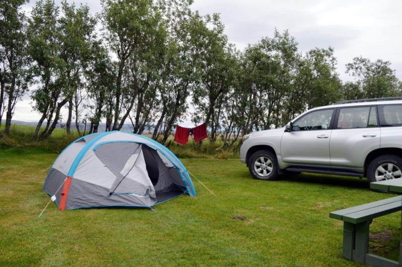 Campsite Kirkjubær & Public Pool | Gay Couple exploring South Iceland Vík Black Beach © CoupleofMen.com