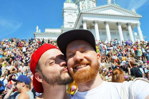 Couple of Men Gay Pride Trips Gay Pride Helsinki LGBTQ Festival Parade 2016 © CoupleofMen.com