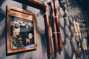 "Picture on the wall of Escape Room ""Bunker"" from Fox in a Box © CoupleofMen.com"