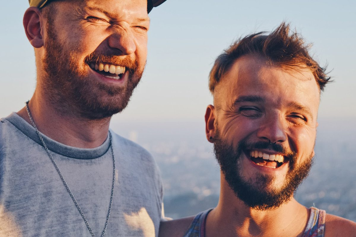 Couple of Men Travel Year 2016