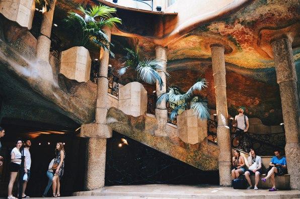 Stairways at the backyard | Gay Travel Guide Gaudi Architecture Casa Mila La Pedrera © Coupleofmen.com.com