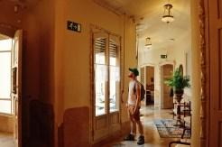 Daan inside the apartments   Gay Travel Guide Gaudi Architecture Casa Mila La Pedrera © Coupleofmen.com.com