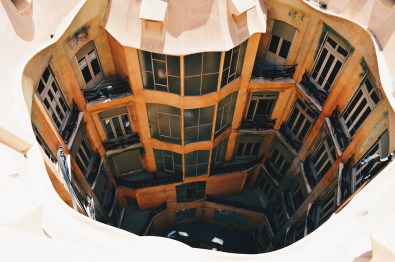 Inner Courtyard | Gay Travel Guide Gaudi Architecture Casa Mila La Pedrera © Coupleofmen.com