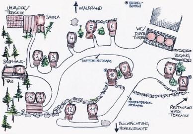 Overview map Wine Barrel Village | Slumber Wine Barrel Taufsteinhütte © Coupleofmen.com