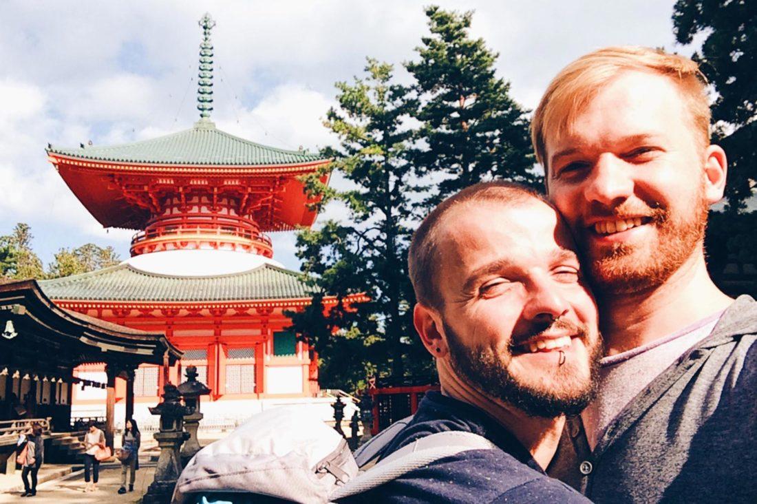 Gay Travel Koyasan temples in ofJapanese Buddhism at Mount Kõya © CoupleofMen.com