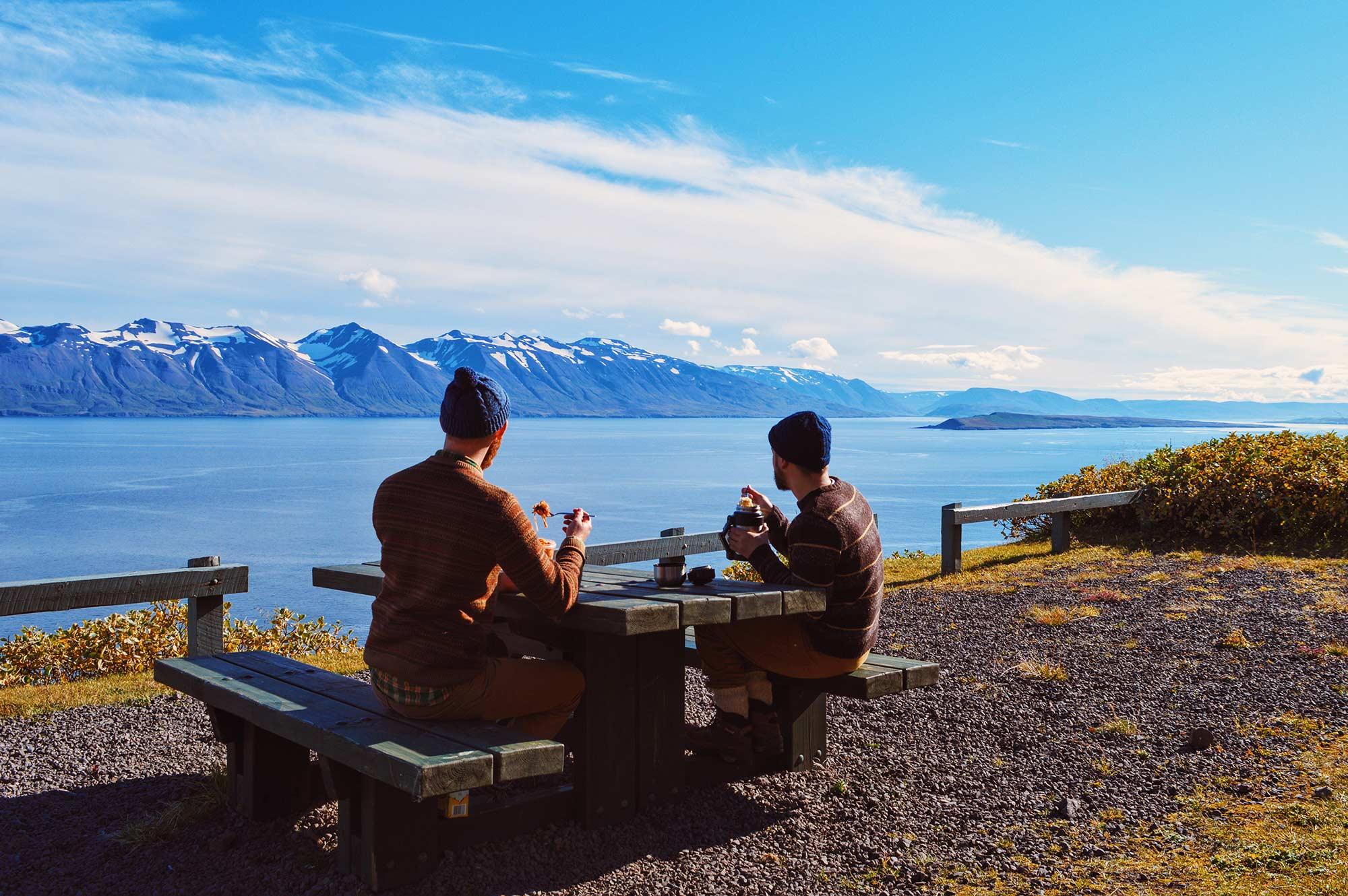Gay Couple traveling Road Trip North Iceland © CoupleofMen.com
