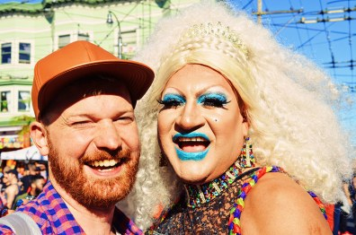 Daan in love with a beautful Drag Queen | Our Photo Story Castro Street Fair San Francisco © CoupleofMen.com